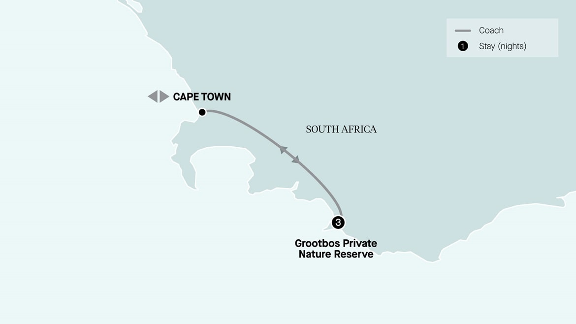 4 Day Grootbos & Garden Route Land Journey, Cape Town Return